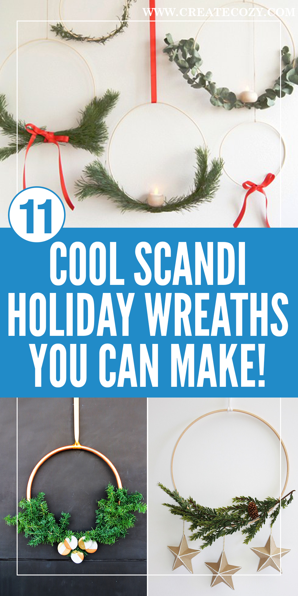 12 Ultra Modern And Minimal Holiday Wreaths You Can Make